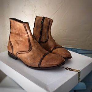 Chiarini Bologna Whiskey Ankle Boots ALL LEATHER 6